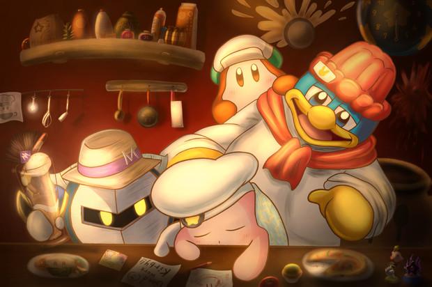 夜のカービィカフェ