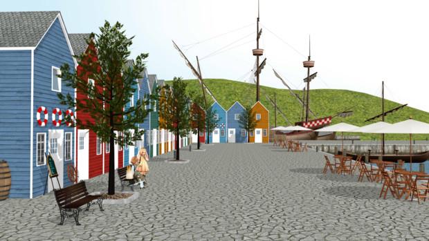 小さな港町
