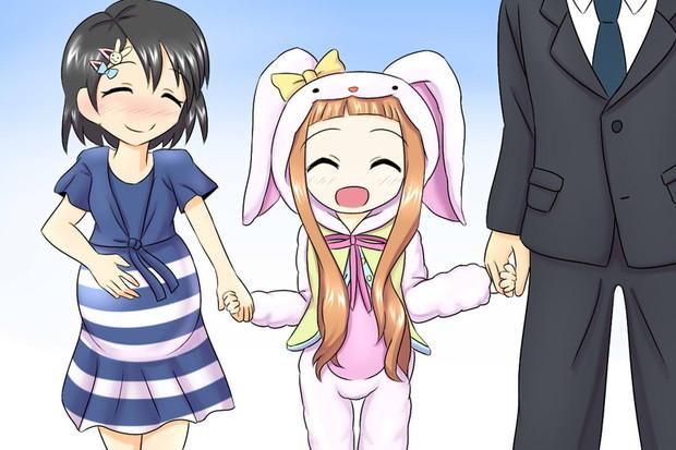千枝ママと仁奈ちゃんとPパパ
