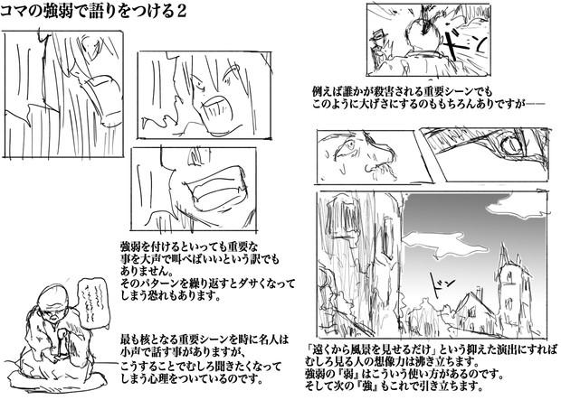 漫画コマ割りのパターン6