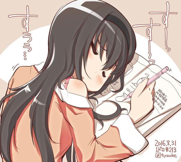 宿題終わってない!!! (まどマギワンドロ #213)