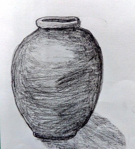 10分で描いた壺