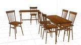 【MMDアクセサリ配布あり】木製の机と椅子