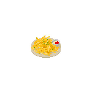 【ドット絵】フライドポテト
