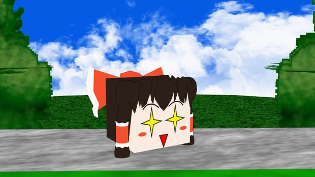 【東方MMD】近々箱型のゆっくり霊夢 動画にて配布開始しました