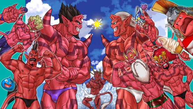 今年一番赤い男だらけの暑苦しいくらいの絵( *´艸`)