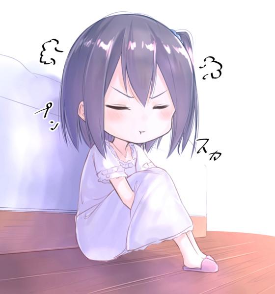 起きてくれないからいじけるしずく