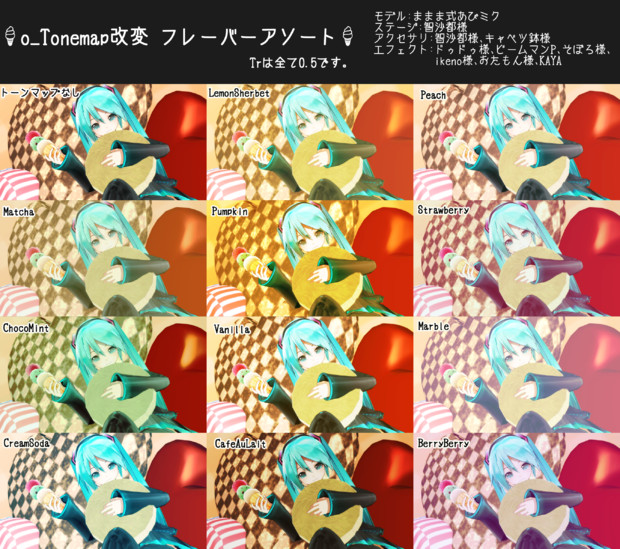 o_Tonemap改変 フレーバーアソート
