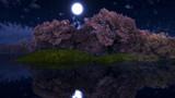 【MMDステージ配布】水辺の夜桜 TH9【スカイドーム】