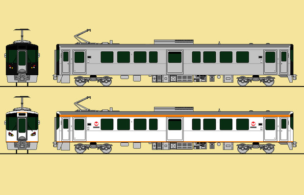 一畑電車デハ7000系(ラッピング公募開始)