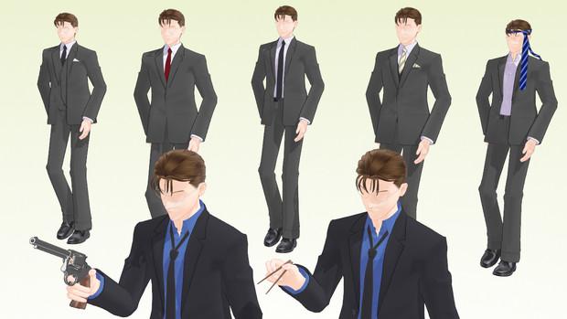 【MMD】190_01 スーツ【衣装配布】