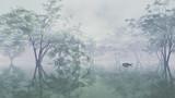 【MMDステージ配布】霧の水辺の公園 TJ7【スカイドーム】