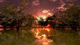 【MMDステージ配布】夕方の水辺の公園 TJ8【スカイドーム】