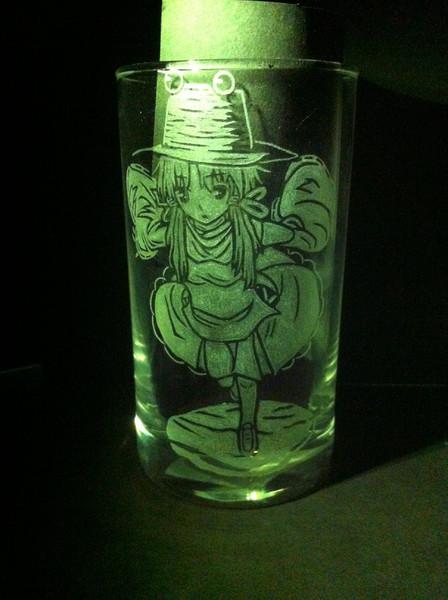 【痛グラス】洩矢諏訪子【彫ってみた】
