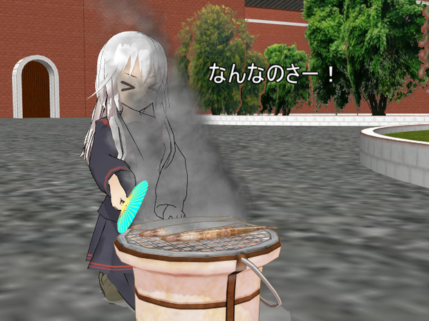 煙をかぶる菊月