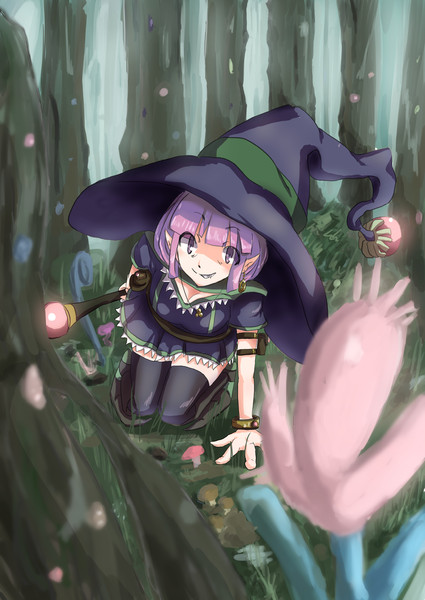 素材集め魔女さん