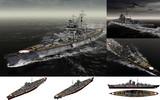 MMD用モブ超弩級戦艦1941セット(モブマルク)