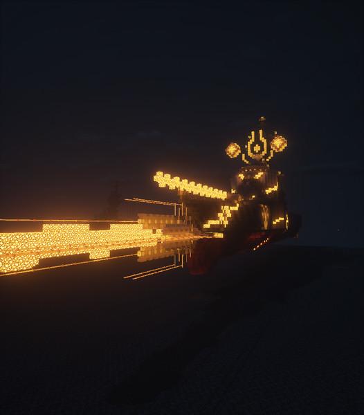 【Minecraft】深夜テンションで護衛艦に( ・∀・)∩ビ━━━━━━ム生やした!霧+プラス