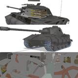 E-75試作重戦車【MMDモデル配布】