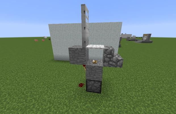 【Minecraft】ディスペンサー式自動ドア(小型化)