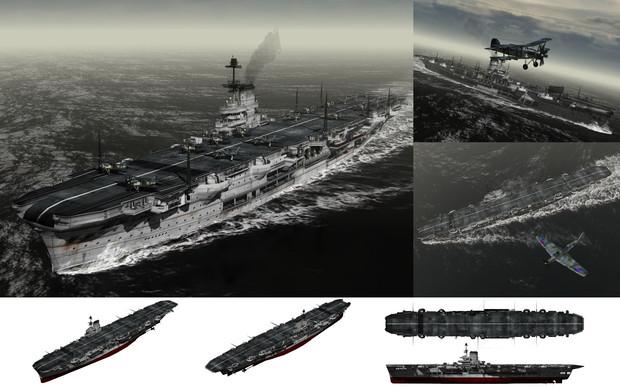 MMD用モブ航空母艦1941セット(モーブ・ロイヤル)