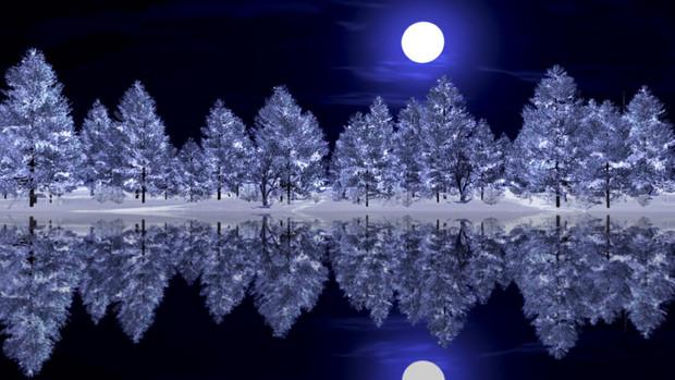 【MMDステージ配布】冬の夜の森 TK9【スカイドーム】