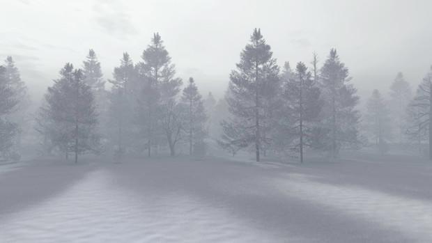 【MMDステージ配布】冬の霧の森 TL2【スカイドーム】