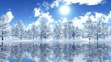 【MMDステージ配布】冬の晴れた森 TK8【スカイドーム】
