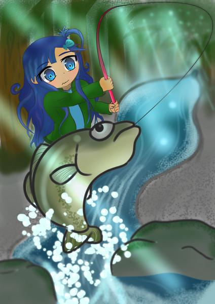 山釣り 七海ちゃん