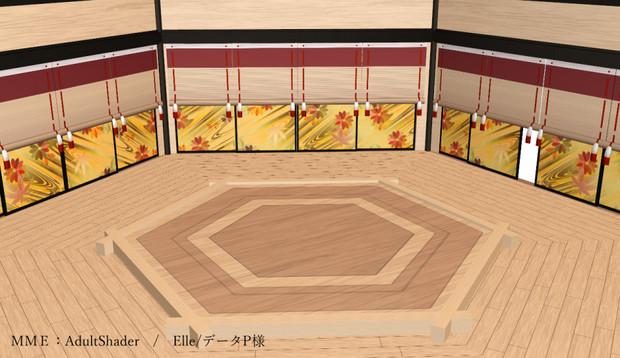 【MMDステージ配布有り】和風六角ステージ
