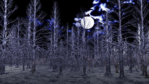 【MMDステージ配布】夜の枯木の森 TL4【スカイドーム】