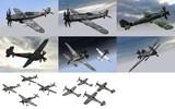 MMD用モブ戦闘機1944(独)セット