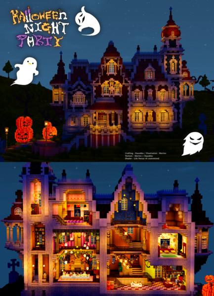 【Minecraft】Halloween Night Party 2016 ドールハウス