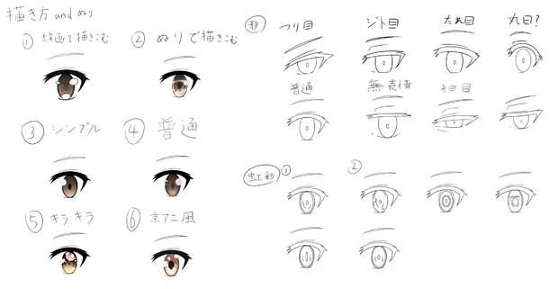 萌える絵を目指して 目の種類 秋式 さんのイラスト ニコニコ静画 イラスト