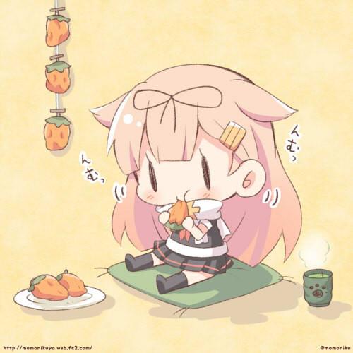 干し柿おいしいっぽい!ぽいぬちゃん!