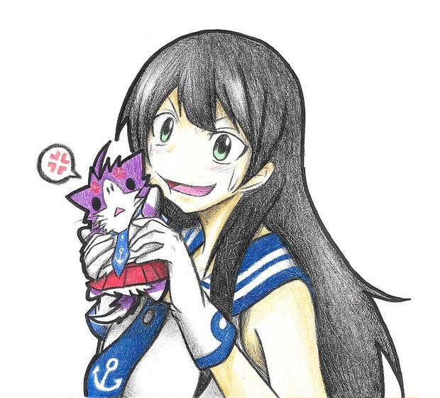 阿賀野と酒匂ネコ