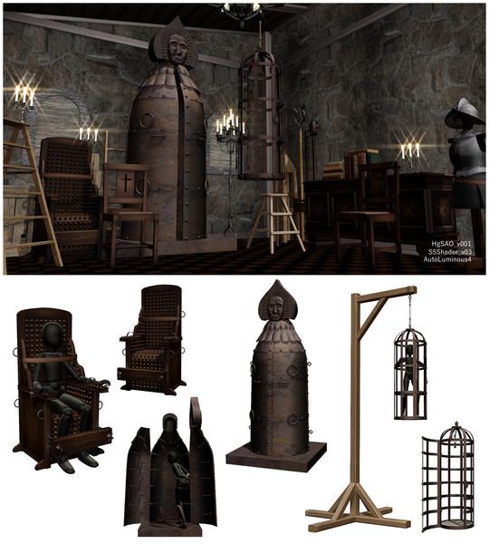 鉄の処女と拷問椅子