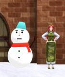 【MMD】雪だるま【モデル配布】