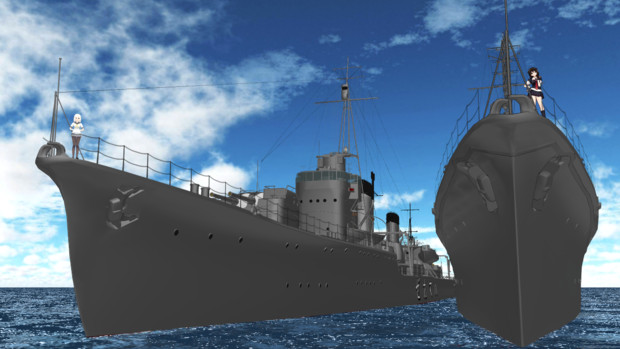 【MMD艦これ】駆逐艦を下から見上げるのが好き【MMD海軍】