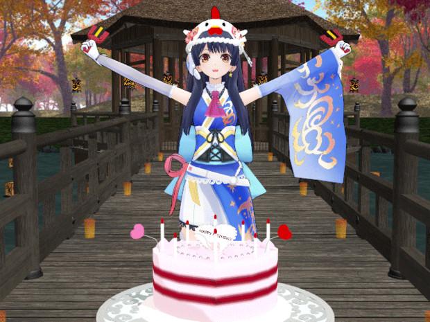 GIFアニメ【ウェザーロイド Airi】ようこそ誕生日 #なおこーん生誕祭 #WNI