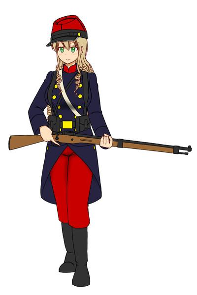 WW1初期のフランス軍歩兵