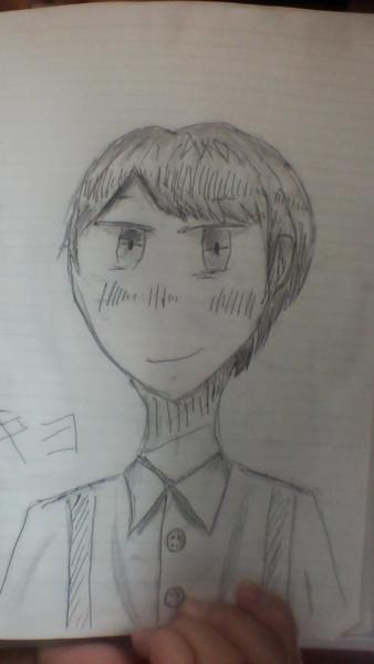 キヨさんを描いたつもり…