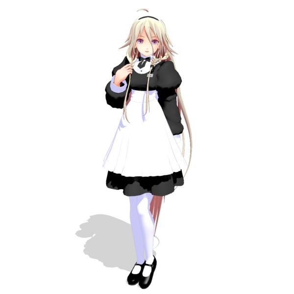 【MMDモデル配布】メイドなIAxさん【スカート丈修正しました】
