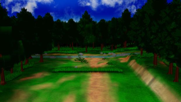 【MMD】現在製作中の森の中川ステージ