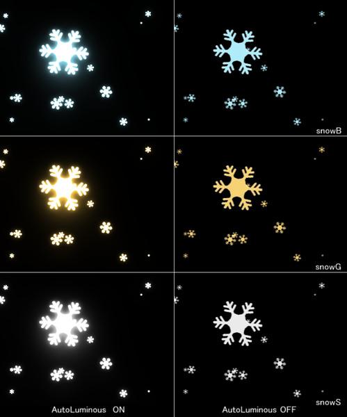 雪の結晶パーティクル