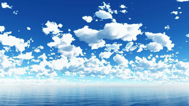 【MMDステージ配布】ふんわり雲の青空 TM3【スカイドーム】