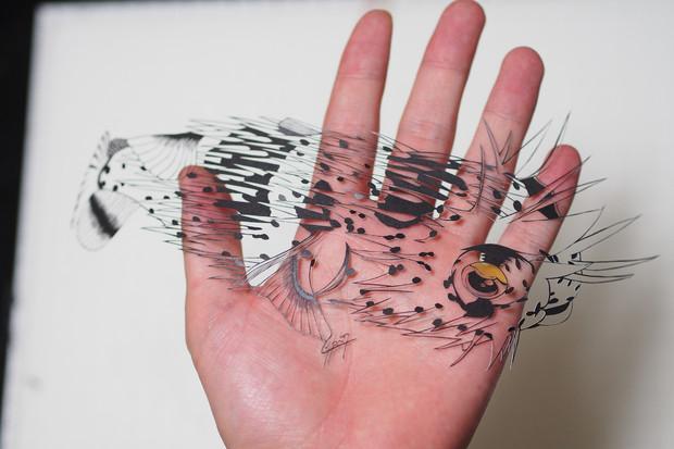 切り絵ハリセンボン 碧輝うろこ さんのイラスト ニコニコ静画