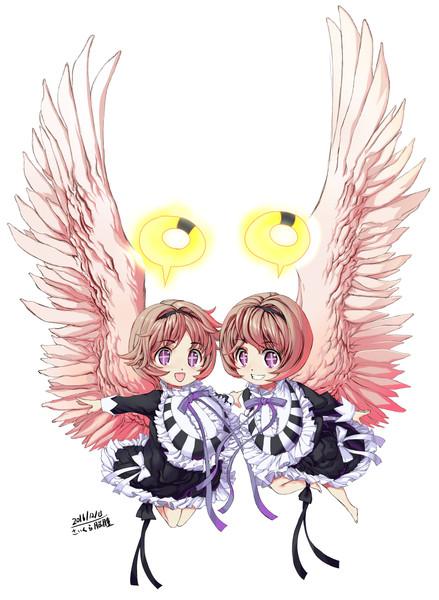 魔法少女育成計画のユナエルとミナエルです