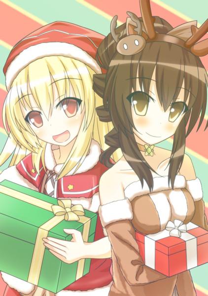 【花騎士】サンタとトナカイのクリスマス準備