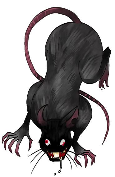 【素材利用可】ネズミ怪物